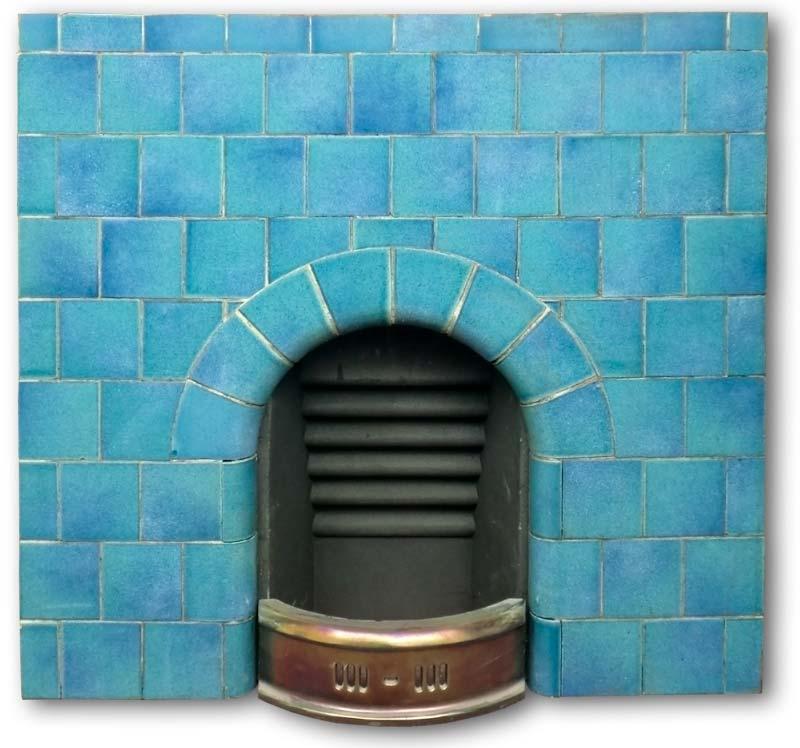 Edwardian Arched Tiled Fireplace Insert Edwardian Fireplaces