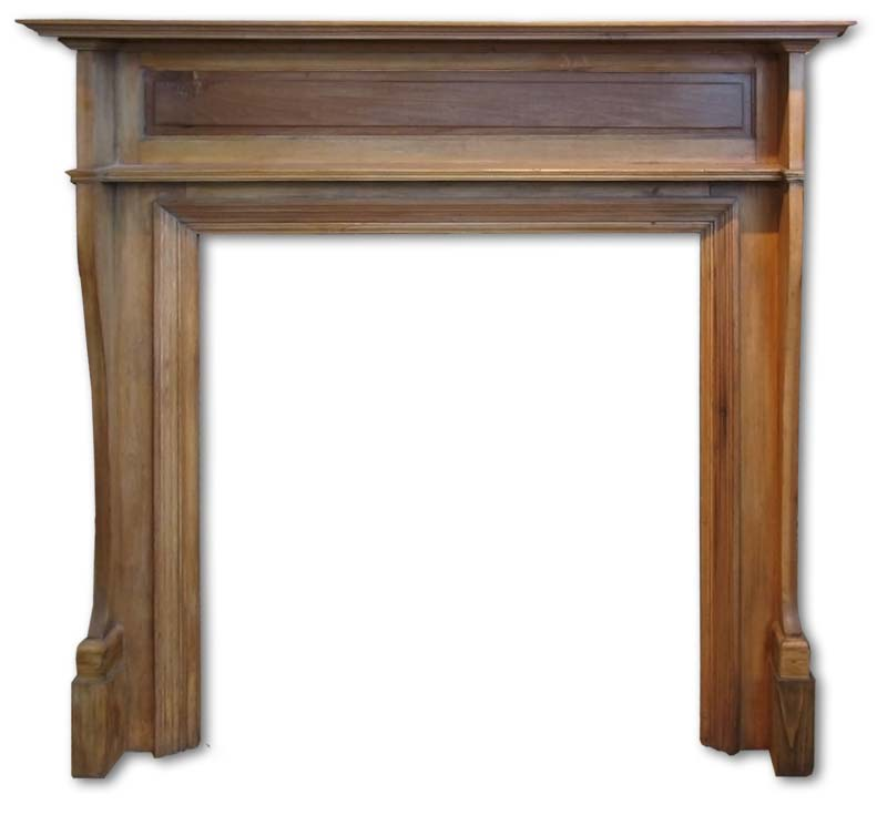 Pine and Gesso Fireplace Mantel