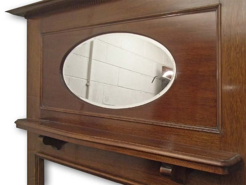 Edwardian Mantel frieze with mirror
