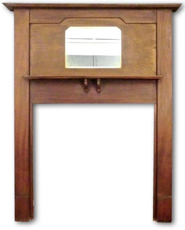Edwardian mahogany mantel with mirror edwardian fireplaces for Mantel mirrors