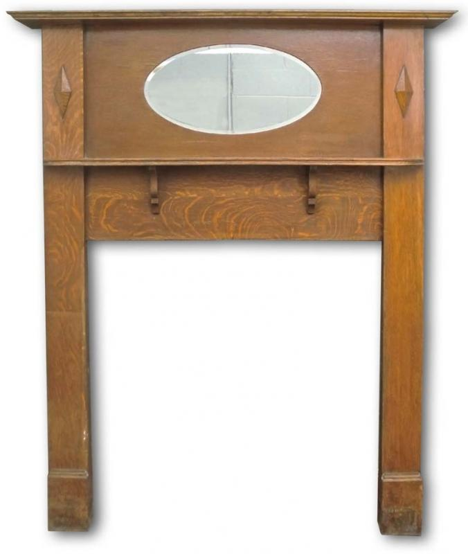 Edwardian mantel with oval mirror - Edwardian Mantel With Oval Mirror Edwardian Fireplaces