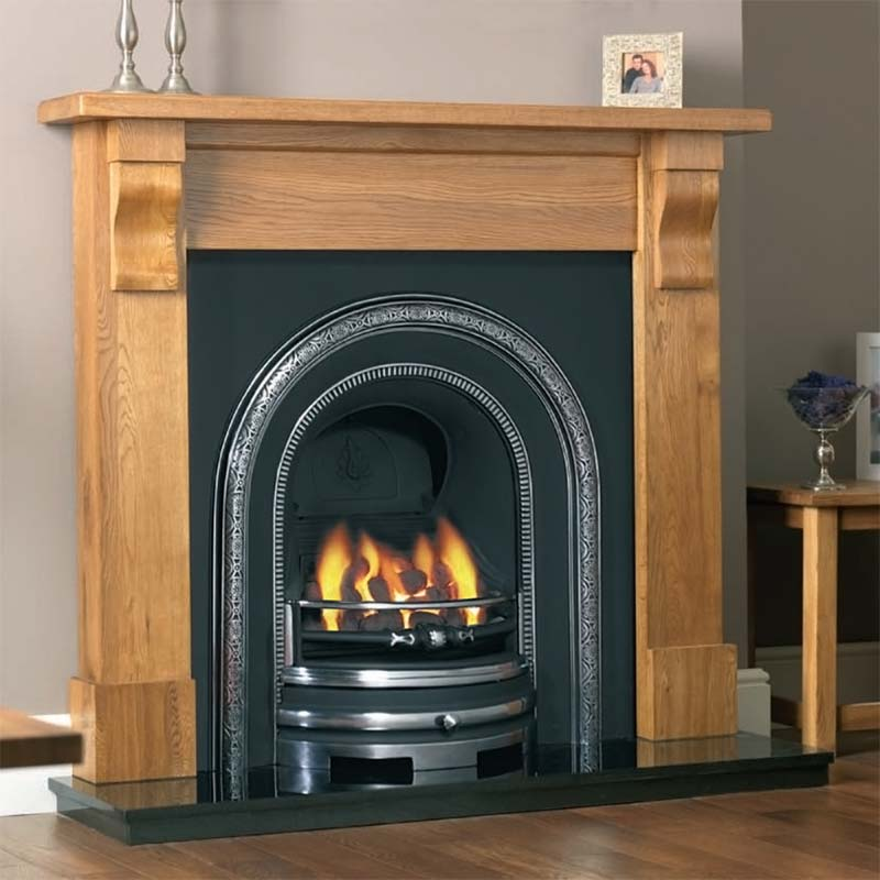 clifton arch cast iron fireplace insert edwardian fireplaces