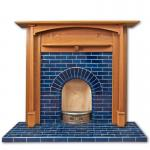 Edwardian Arch fireplace with Morris mantel