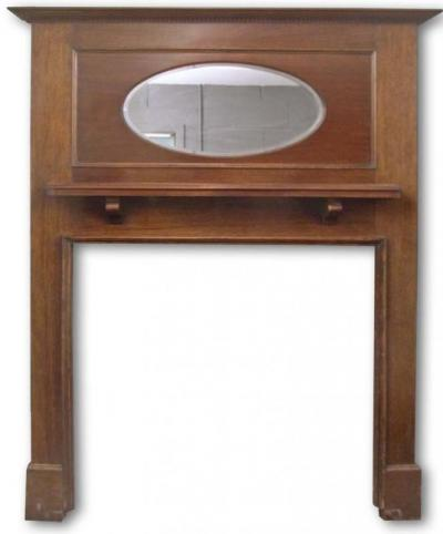 Edwardian Mahogany Mantel with mirror