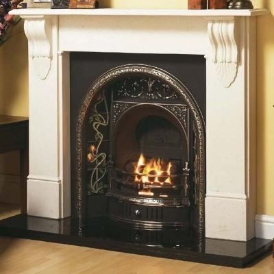 Belfast Cast Iron Fireplace Insert | Edwardian Fireplaces