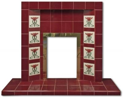 Randall tiled fireplace insert