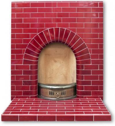 Edwardian Arch fireplace in plain tiles