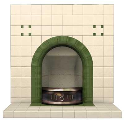 Clarence Arch tiled fireplace insert