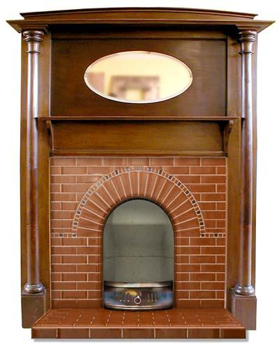 Hampstead tiled fireplace insert