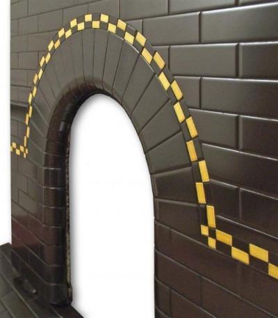 Twistleton Arch tiled fireplace insert