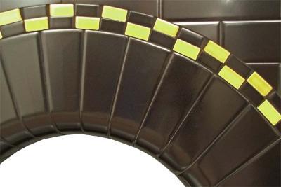 Twistleton Arch tiled fireplace insert detail