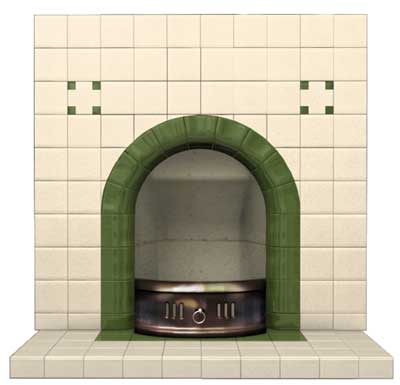 Clarence Arch Tiled Fireplace Insert Edwardian Fireplaces